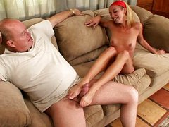 Fat old prick likes young feet