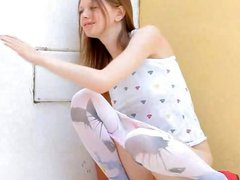 Beautiful shower from thin sexing doll