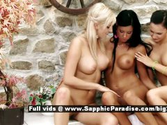 Bianca and Ashley and Carie from sapphic erotica lesbo girls anal fingering