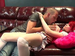 Naughty big tittied redhead shemale Sarina