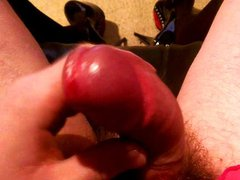 Sissy Crossdresser hard cock and no hands cum