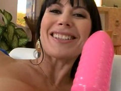 Lovely Horny MILF Enjoys Huge Toy and Big Cock in Her Ass