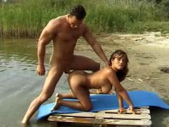 Anal sex by the river for Latina slut
