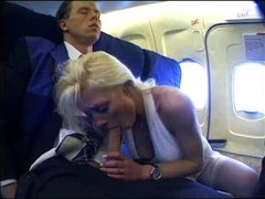 Girl on a plane fucked by big cock
