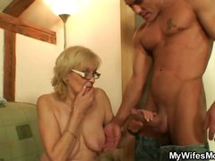 Naughty mother in law gets boned