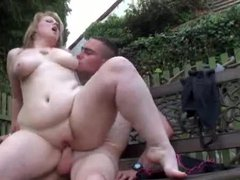 Fat babe banged as BF watches