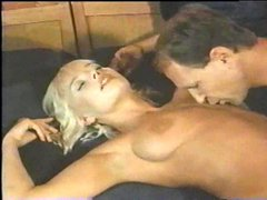 Naughty blonde is stripped and fucked