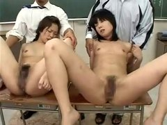 Japanese Enema Squirting Schoolgirls Torture (Censored)