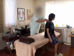 Japanese girl gets massage and has sex