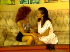 Old school interracial lesbian porn with dildos
