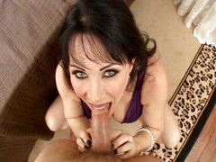 Hot MILF gives all holes in POV