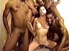 White Girl Takes Multiple Interracial Creampies
