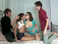 Horny Teens Have Orgy