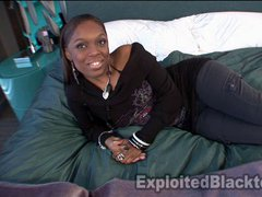 Ebony Teen Amateur Gives Sloppy BJ