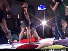 Public Porn and Cum sex on stage
