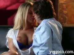 Busty pornstar Nicole Aniston cock riding and creampied