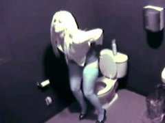 girl Caught masturbating In The Toilet