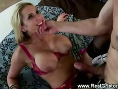 Busty housewife cheats with neighbour