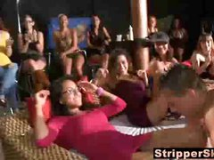 Mom And Daughter Party At Strip Club