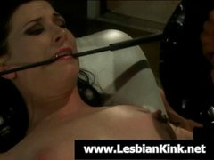 Some pain is performed by her mistress to keep this slave girl in line