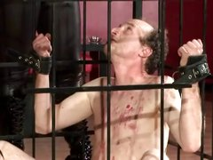At the SM Studio in Berlin, Lady Katherina is busy torturing men