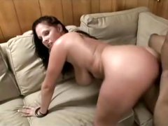 Busty brunette chick Gianna Michaels gets hammered by a black tool