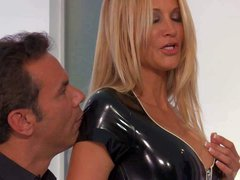 Jessica Drake is a blond-haired milf beauty with perfect body.