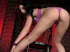 Striptease babe Madison wants to relax