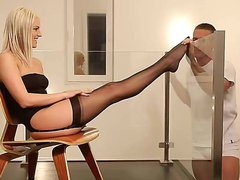 Sensual blonde temptress Blanche Bradburry seduces
