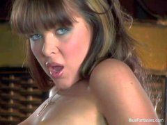 Christine Vinson is a blue eyed sexy doll who displays