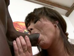 Busty mom bangs big black cock