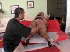 Black BBW-Milf-Mom fucked by young Guy