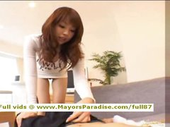 Risa Kasumi innocent Chinese girl is riding a hard cock