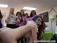 Christie's bachelorette party from dancing�