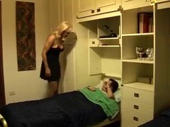 hot blonde mom and not her son having