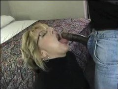 Sexy wife sucks black cock