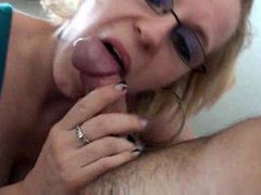 Jizz junky swallows his fun loads