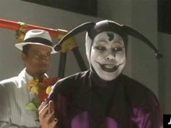 Crazy Japanese joker wants to torture and sacrifice Asian schoolgirl