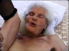 80 years old granny sucking
