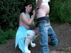 British chick dogging and gets two loads
