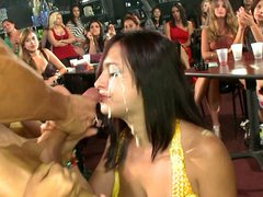 Taking facial in front of her friends