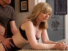 Mature mom Mrs. Hartley fucking her son's friend