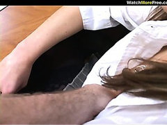Office Stress Leads To POV Blow Job With Hot Brunette