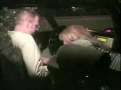 Taxi driver gets his cock sucked in the car