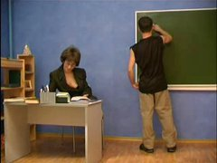 Geometry teacher seduces young guy.