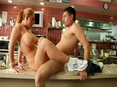 Sophie Dee As Waitress Gives It Up
