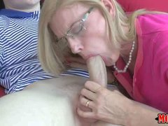 Amazing impudent blonde milf Darryl Hanah was absolutely alone when