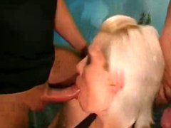 Blonde banged by countless guys