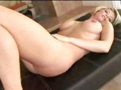 hot busty blonde mature milf cougar kayla synz fucks for a creampie